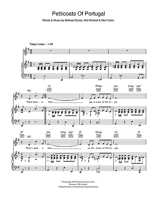 Bert Kaempfert Petticoats Of Portugal (Rapariga Do Portugal) sheet music notes and chords. Download Printable PDF.