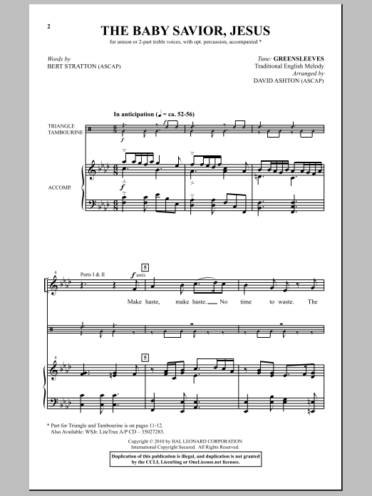 Bert Stratton The Baby Savior, Jesus sheet music notes and chords. Download Printable PDF.