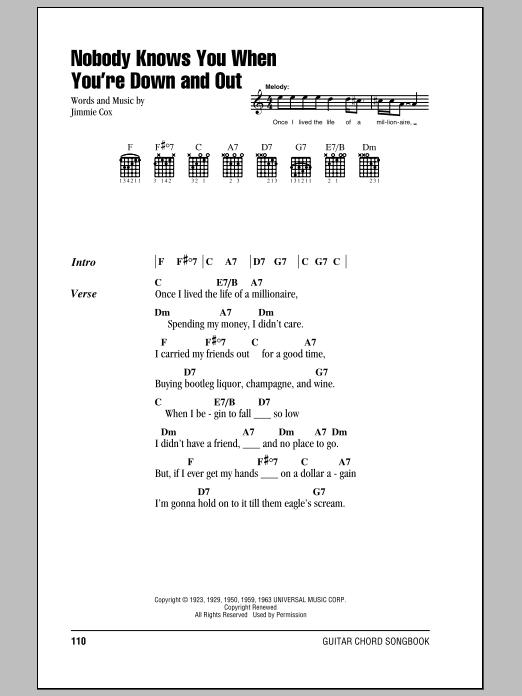 Bessie Smith Nobody Knows You When You Re Down And Out Sheet Music Pdf Notes Chords Blues Score Guitar Chords Lyrics Download Printable Sku 84196 Hanbeon useojugo mara ohiryeo pyeonhae geuge deo ttanmal an naonikka neomu himdeuljiman geunyang useojugo mara. bessie smith nobody knows you when you re down and out sheet music notes chords download printable guitar chords lyrics pdf score sku 84196