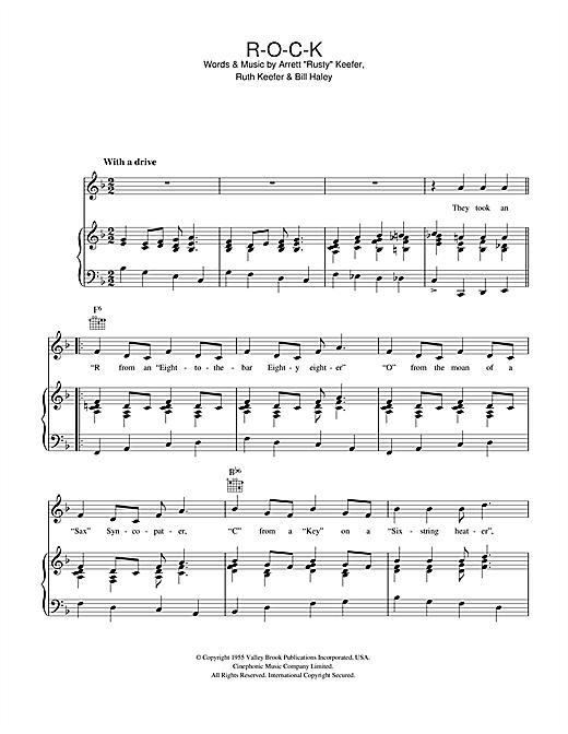 Bill Haley ROCK sheet music notes and chords. Download Printable PDF.