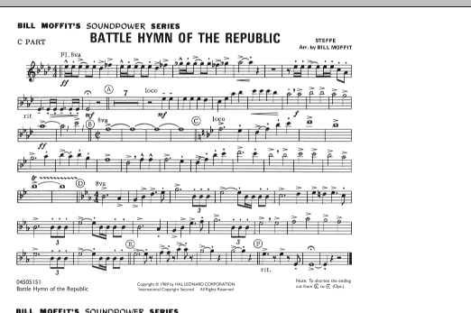 Bill Moffit Battle Hymn Of The Republic - C Part sheet music notes and chords. Download Printable PDF.