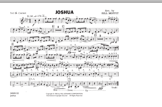 Bill Moffit Joshua - 3rd Bb Cornet sheet music notes and chords. Download Printable PDF.