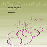 Download or print Bill Molenhof Busy Signal - Marimba-Vibraphone Sheet Music Printable PDF 2-page score for Concert / arranged Percussion Ensemble SKU: 373543.
