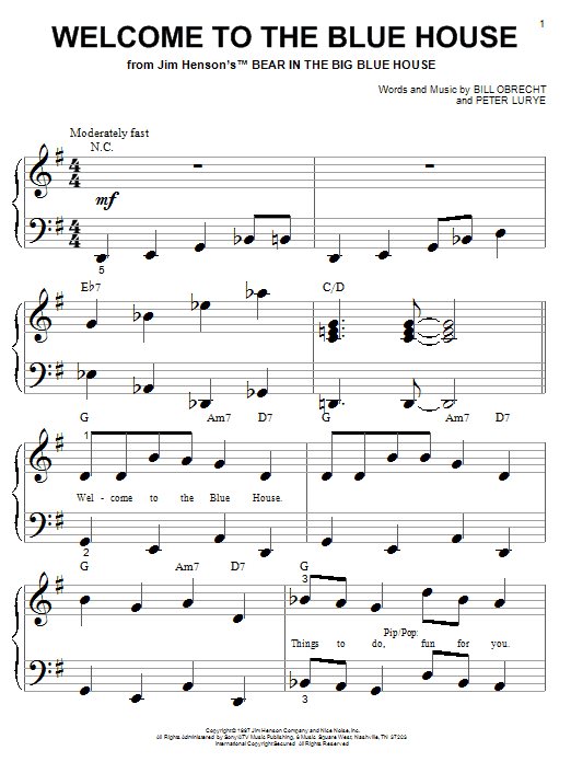 Bill Obrecht Welcome To The Blue House sheet music notes and chords. Download Printable PDF.