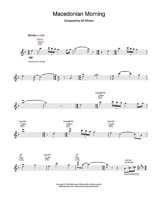 Bill Whelan Macedonian Morning (from Riverdance) sheet music notes and chords. Download Printable PDF.