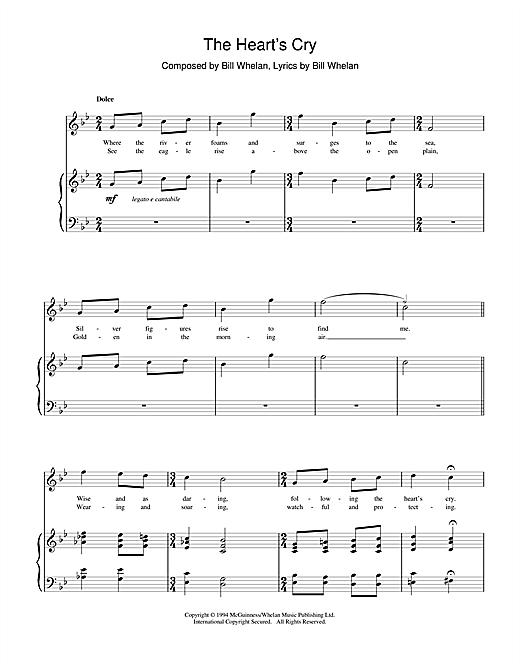Bill Whelan The Heart's Cry (from Riverdance) sheet music notes and chords. Download Printable PDF.