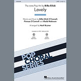 Download Billie Eilish & Khalid 'Lovely (from 13 Reasons Why) (arr. Mark Brymer) - Guitar' Printable PDF 2-page score for Pop / arranged Choir Instrumental Pak SKU: 416042.