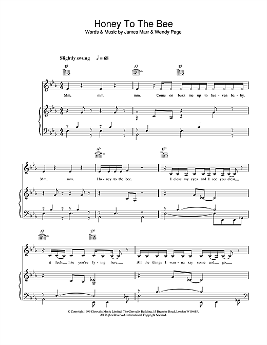 Billie Piper Honey to the Bee sheet music notes and chords