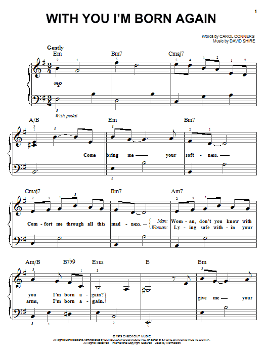 Billy Preston With You I'm Born Again sheet music notes and chords