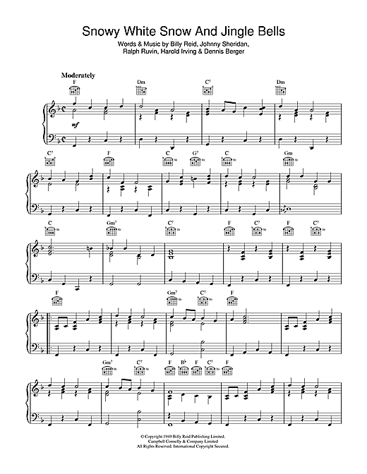 Billy Reid Snowy White Snow And Jingle Bells sheet music notes and chords