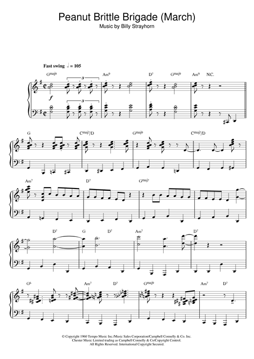 Billy Strayhorn Peanut Brittle Brigade (From The Nutcracker Suite) sheet music notes and chords. Download Printable PDF.