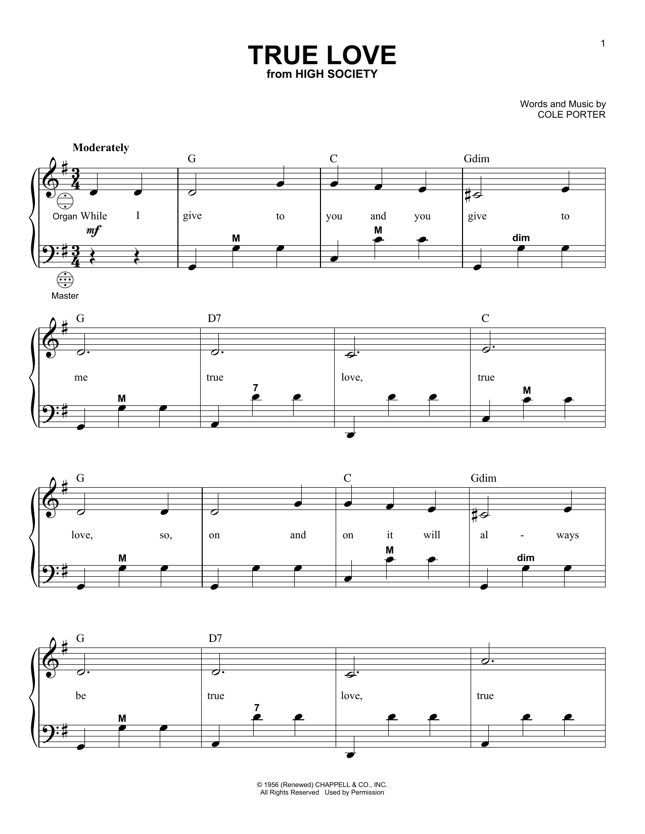 Gary Meisner True Love sheet music notes and chords. Download Printable PDF.