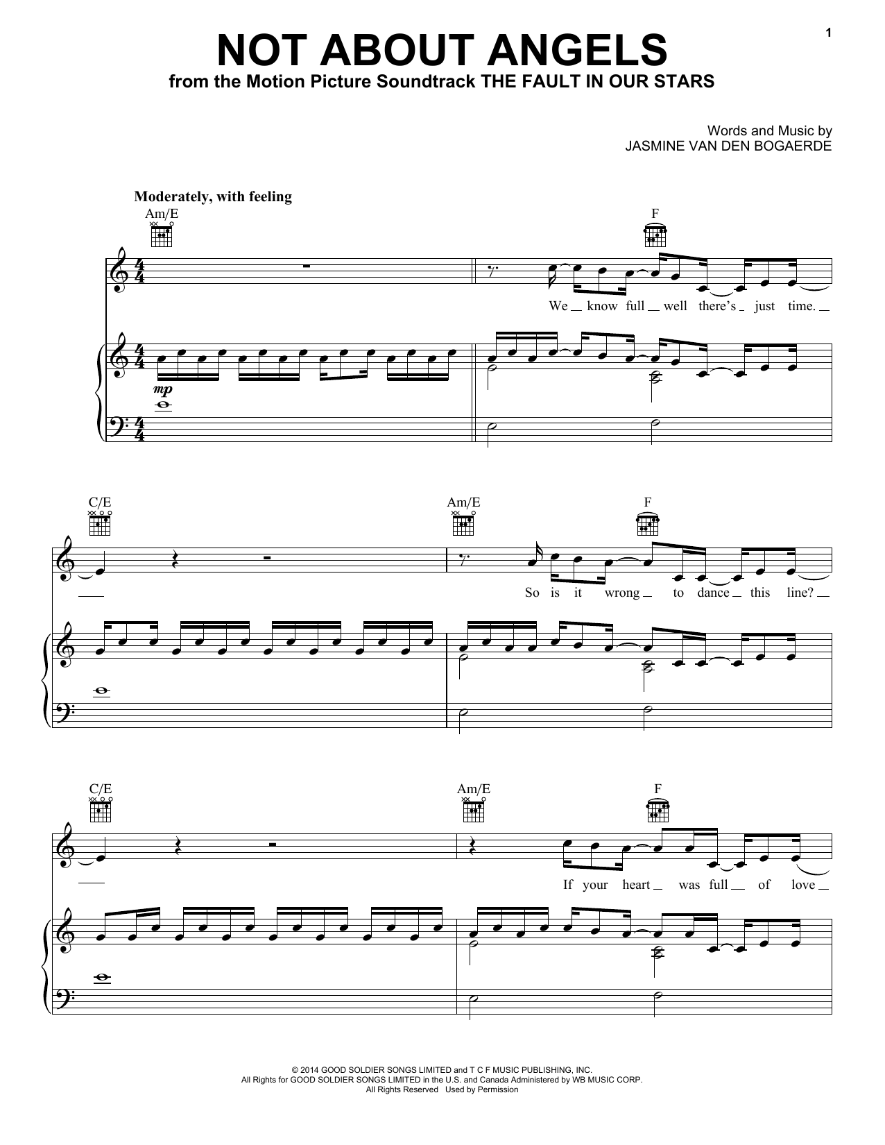 Birdy Not About Angels sheet music notes and chords. Download Printable PDF.