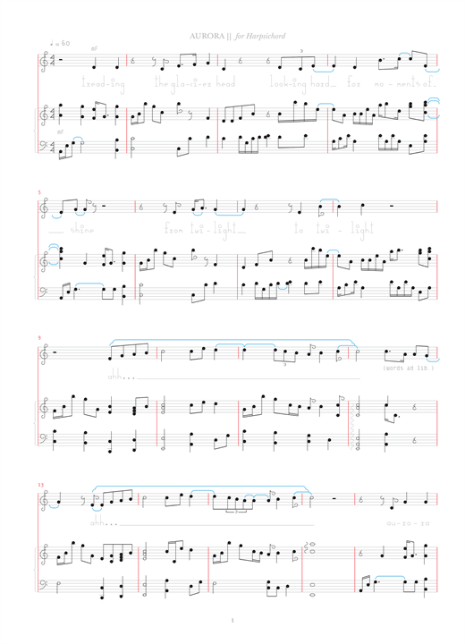 Bjork Aurora sheet music notes and chords. Download Printable PDF.