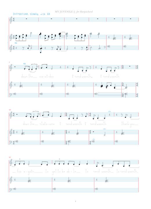 Bjork My Juvenile sheet music notes and chords. Download Printable PDF.