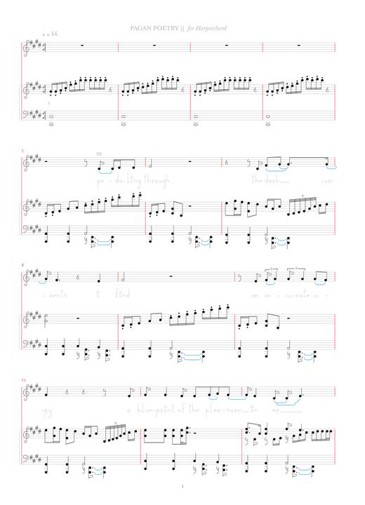 Bjork Pagan Poetry sheet music notes and chords