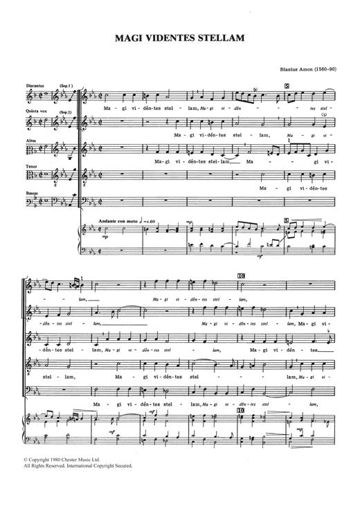 Blasius Amon Magi Videntes Stellam sheet music notes and chords. Download Printable PDF.