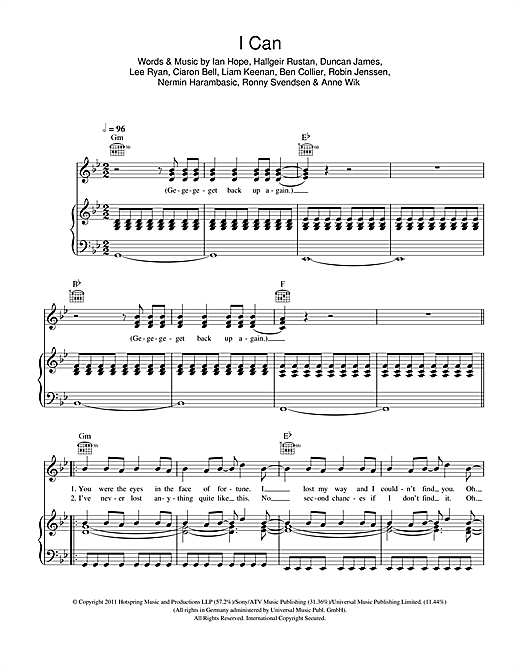 Blue I Can sheet music notes and chords. Download Printable PDF.