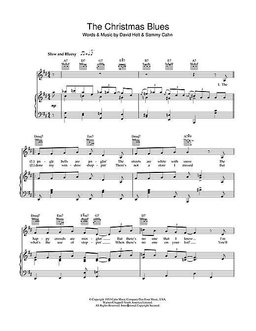Bob Dylan 'The Christmas Blues' Sheet Music Notes, Chords | Download  Printable Piano, Vocal & Guitar (Right-Hand Melody) - SKU: 49176