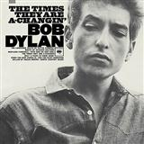 Download Bob Dylan 'The Times They Are A-Changin'' Printable PDF 2-page score for Folk / arranged Ukulele with Strumming Patterns SKU: 120707.