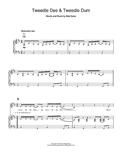 Bob Dylan Tweedle Dee & Tweedle Dum sheet music notes and chords