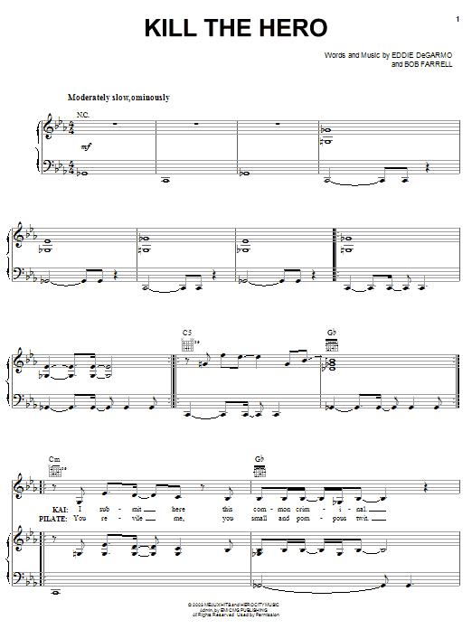 Bob Farrell Kill The Hero sheet music notes and chords. Download Printable PDF.