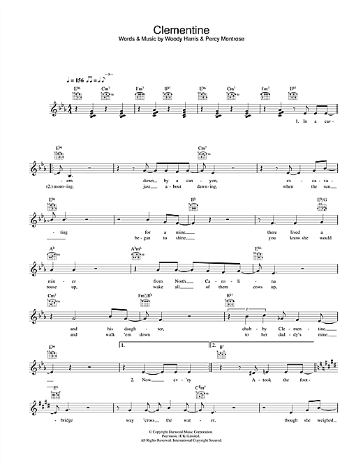 Bobby Darin Clementine sheet music notes and chords. Download Printable PDF.