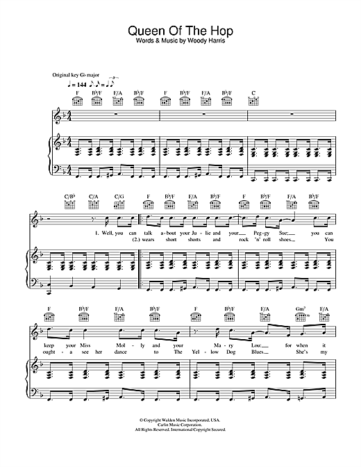Bobby Darin Queen Of The Hop sheet music notes and chords. Download Printable PDF.