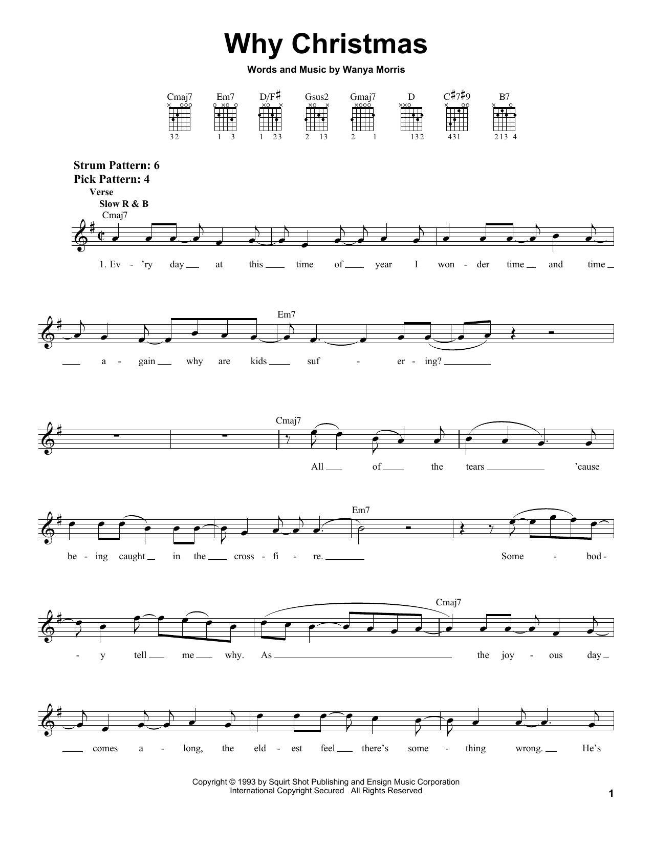 Boyz II Men Why Christmas sheet music notes and chords. Download Printable PDF.