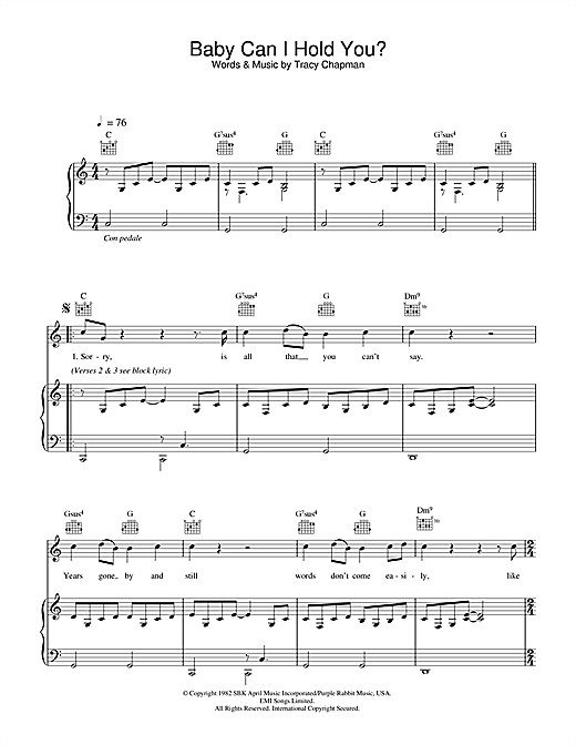 Boyzone Baby Can I Hold You sheet music notes and chords. Download Printable PDF.