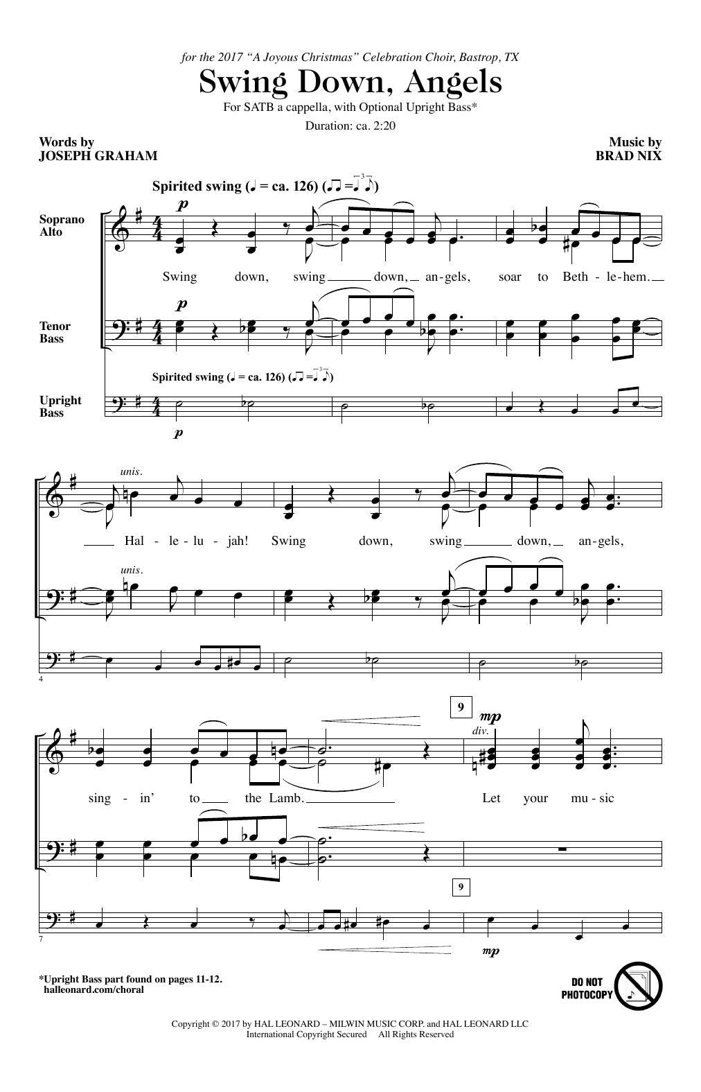 Brad Nix Swing Down, Angels sheet music notes and chords. Download Printable PDF.
