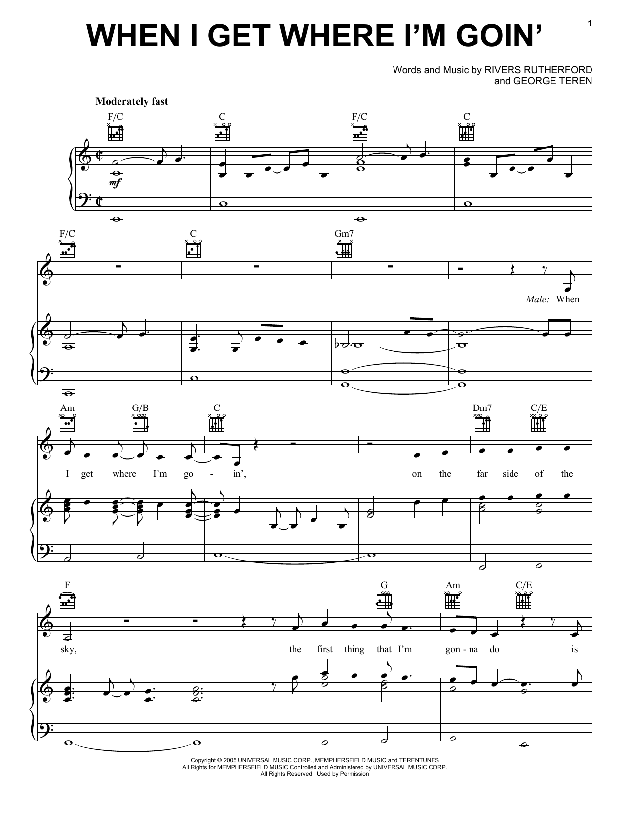 Brad Paisley featuring Dolly Parton When I Get Where I'm Goin' sheet music notes and chords. Download Printable PDF.