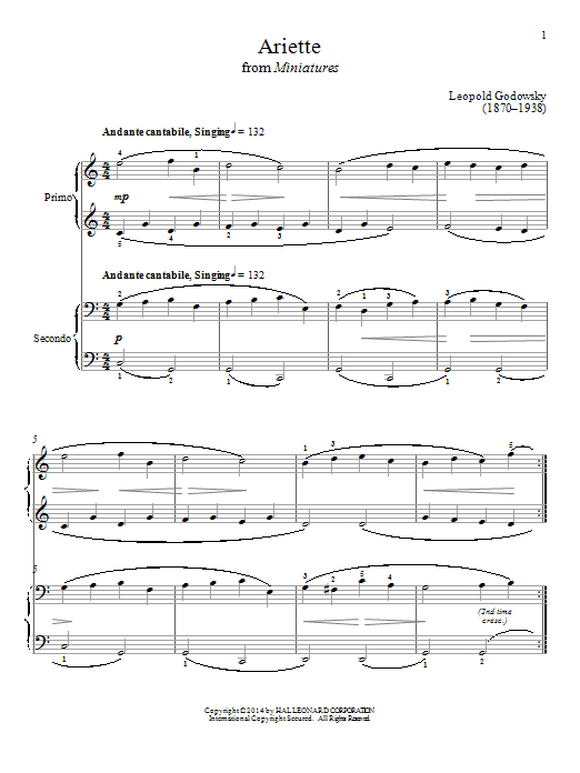 Bradley Beckman Ariette sheet music notes and chords. Download Printable PDF.