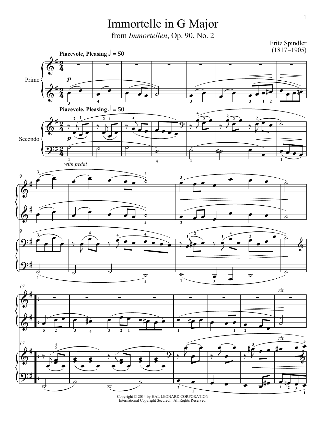 Bradley Beckman Immortelle In G Major sheet music notes and chords. Download Printable PDF.