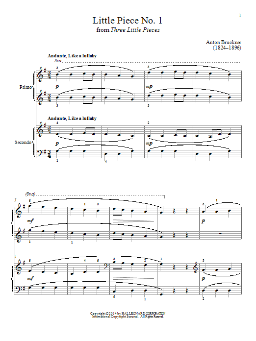 Bradley Beckman Little Piece No. 1 sheet music notes and chords. Download Printable PDF.