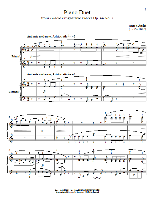Bradley Beckman Piano Duet sheet music notes and chords