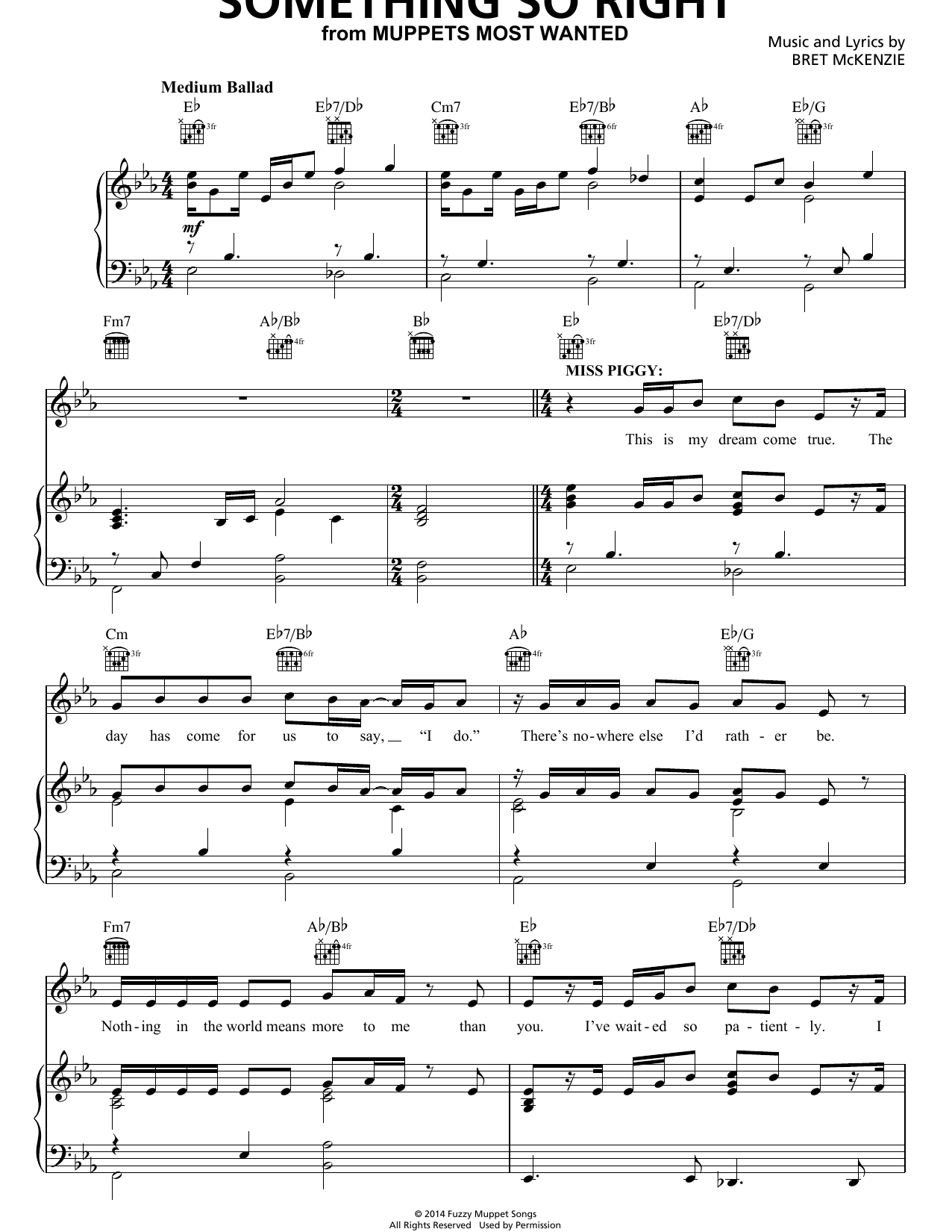 Bret McKenzie Something So Right sheet music notes and chords. Download Printable PDF.