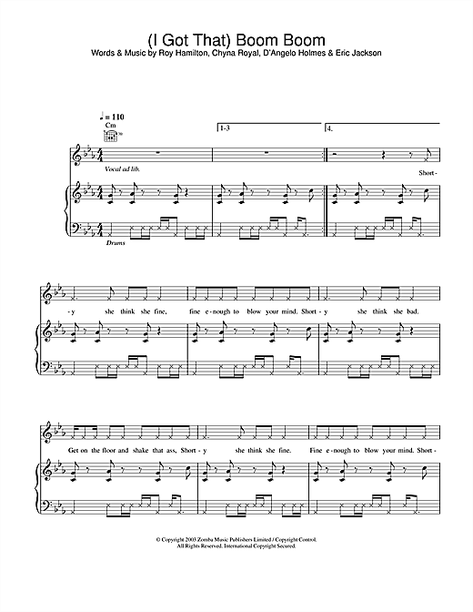 Britney Spears (I Got That) Boom Boom sheet music notes and chords