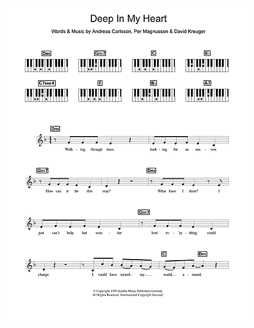 Britney Spears Deep In My Heart sheet music notes and chords. Download Printable PDF.