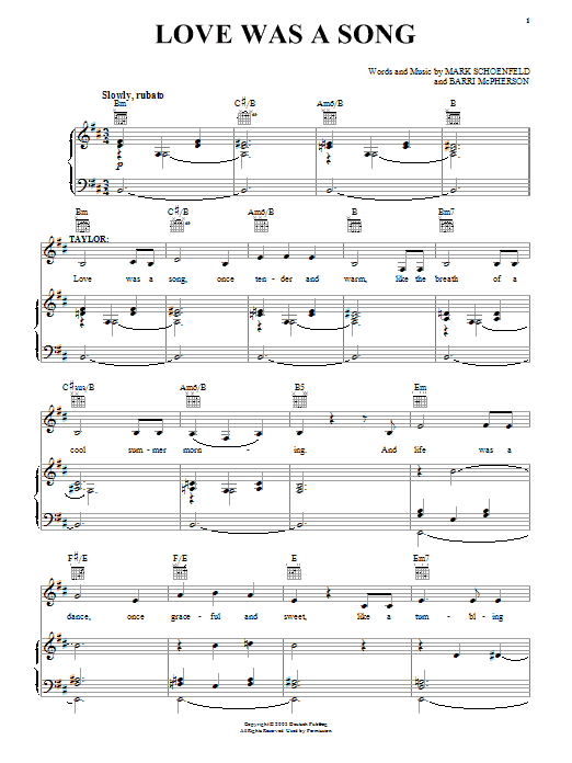 Brooklyn The Musical Love Was A Song sheet music notes and chords. Download Printable PDF.