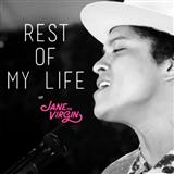 Download Bruno Mars 'The Rest Of My Life' Printable PDF 3-page score for Pop / arranged Piano, Vocal & Guitar (Right-Hand Melody) SKU: 162548.