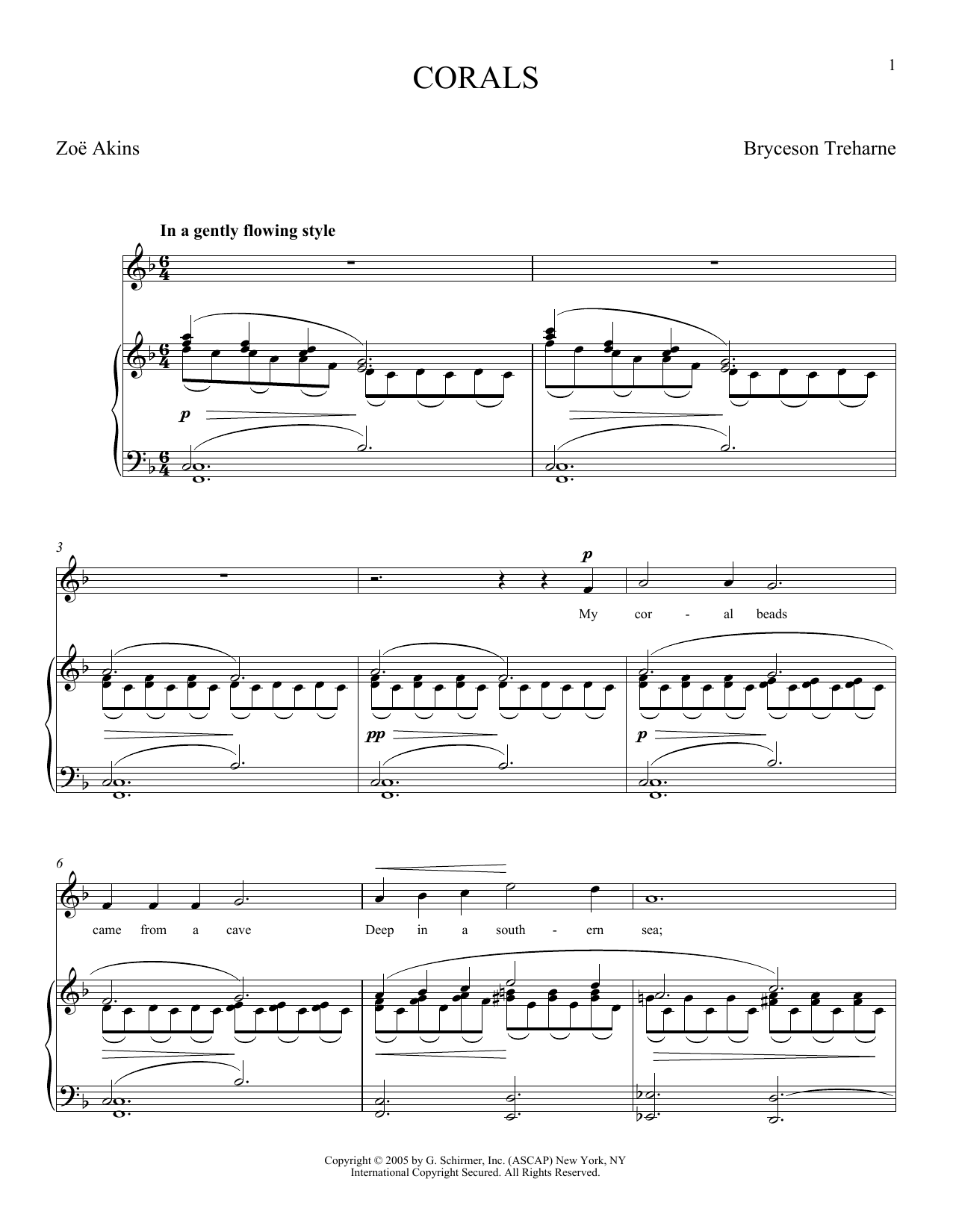 Bryceson Treharne Corals sheet music notes and chords. Download Printable PDF.