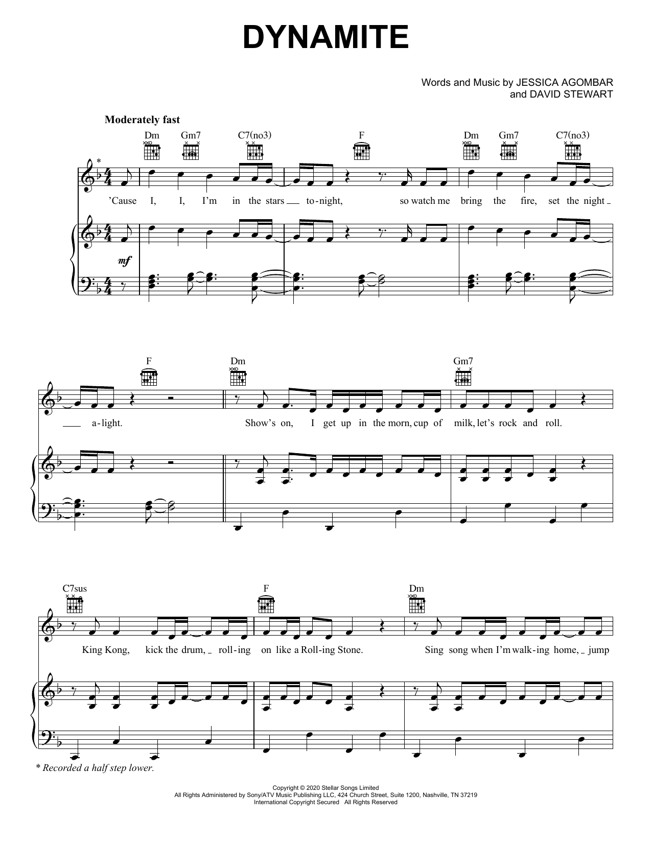 BTS Dynamite sheet music notes and chords. Download Printable PDF.