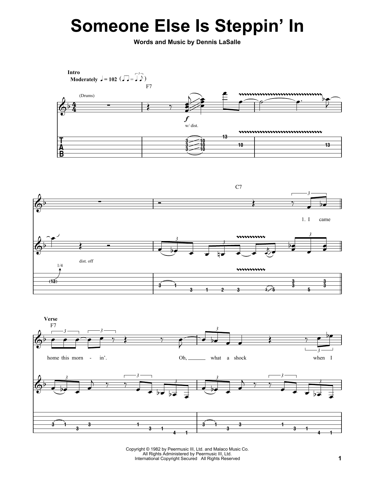 Buddy Guy Someone Else Is Steppin' In sheet music notes and chords. Download Printable PDF.