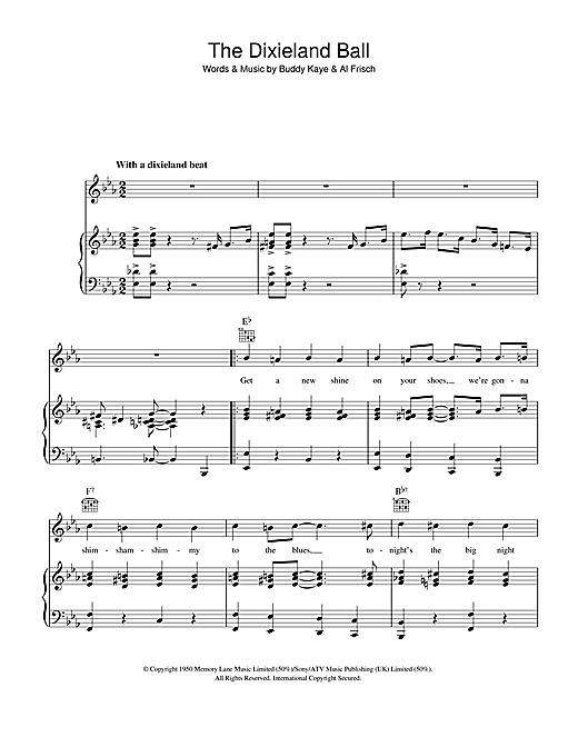 Buddy Kaye The Dixieland Ball sheet music notes and chords