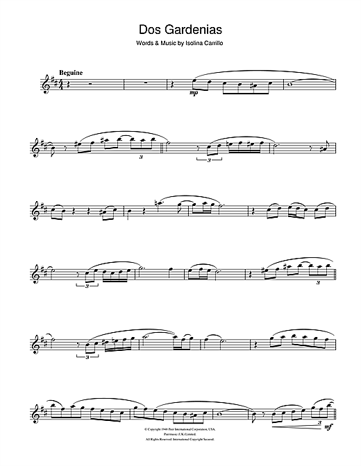 Buena Vista Social Club Dos Gardenias sheet music notes and chords. Download Printable PDF.