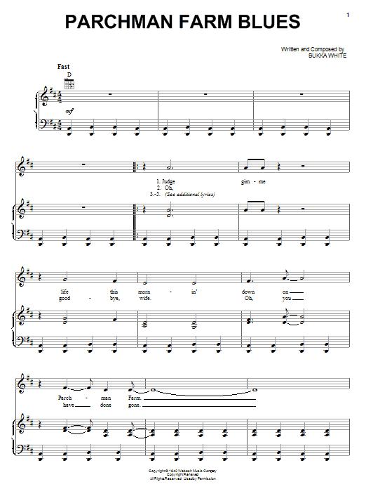 Bukka White Parchman Farm Blues sheet music notes and chords