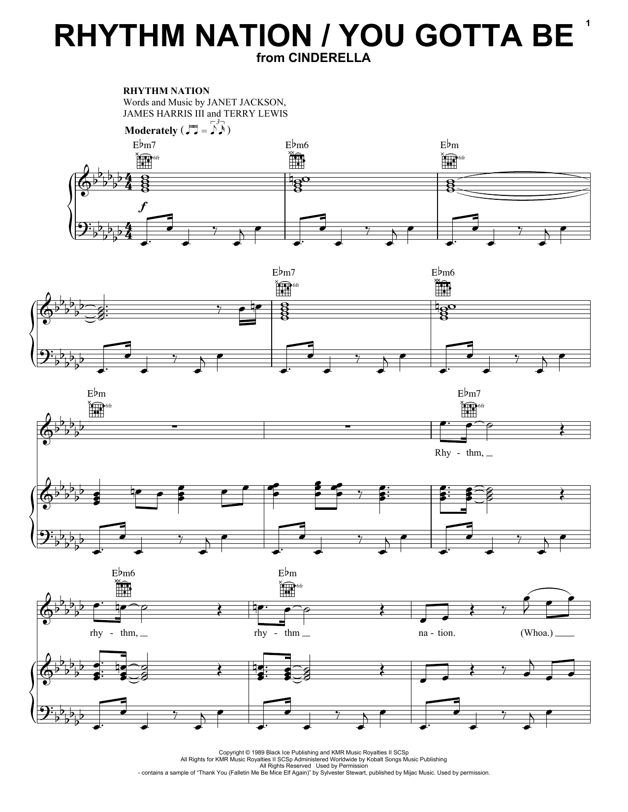 Camila Cabello and Idina Menzel Rhythm Nation / You Gotta Be (from the Amazon Original Movie Cinderella) sheet music notes and chords. Download Printable PDF.