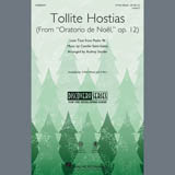 Download Camille Saint-Saens 'Tollite Hostias (arr. Audrey Snyder)' Printable PDF 7-page score for Christmas / arranged 3-Part Mixed Choir SKU: 407417.