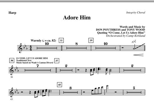 Camp Kirkland Adore Him - Harp sheet music notes and chords. Download Printable PDF.